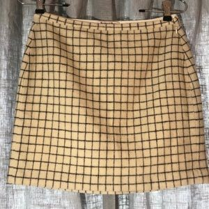 MADEWELL|WOOL MINI SKIRT BLACK AND WHITE|SZ 2